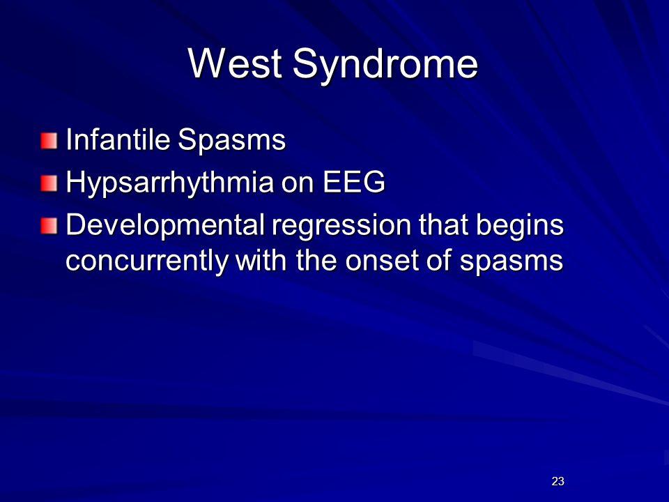 West Syndrome Infantile Spasms Hypsarrhythmia on EEG