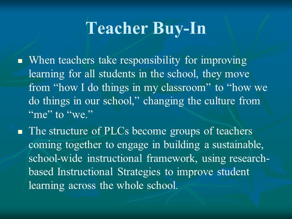 Teacher Buy-In