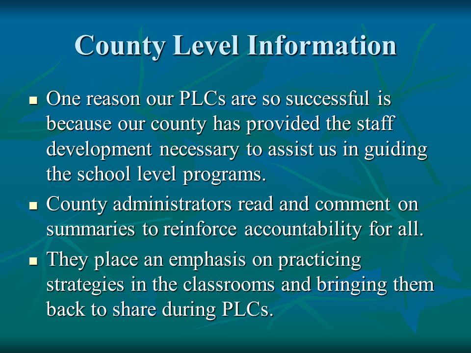 County Level Information