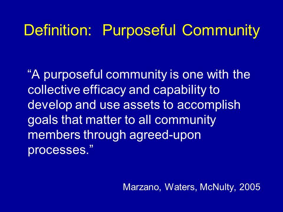 Definition: Purposeful Community