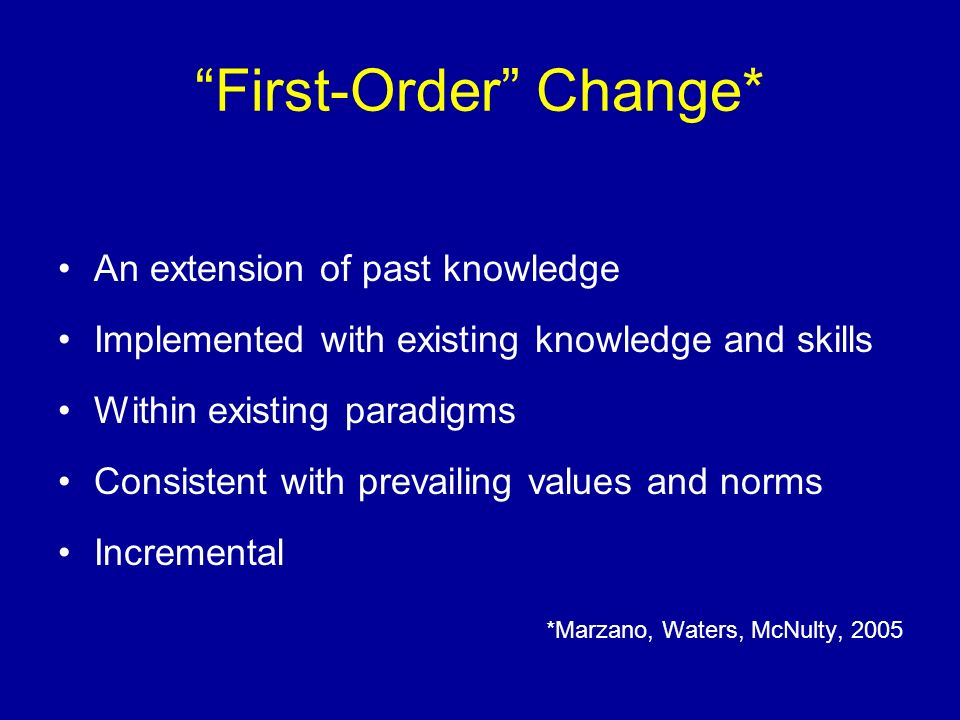 First-Order Change*