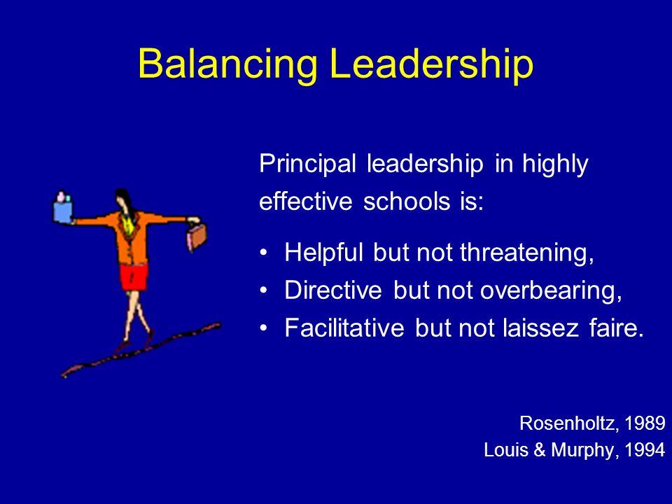 Balancing Leadership Principal leadership in highly