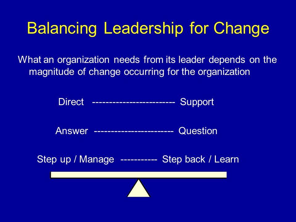 Balancing Leadership for Change
