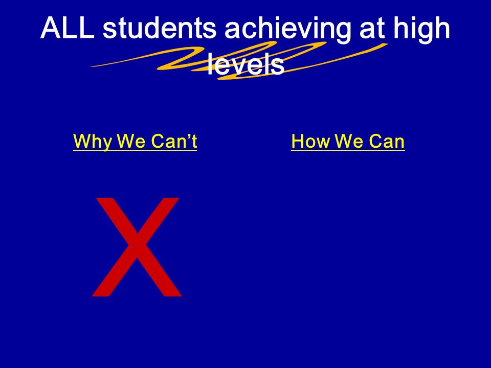 ALL students achieving at high levels