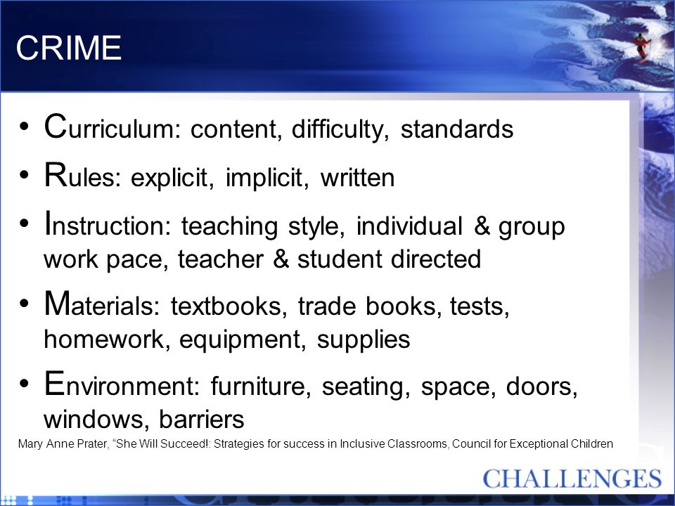 Curriculum: content, difficulty, standards