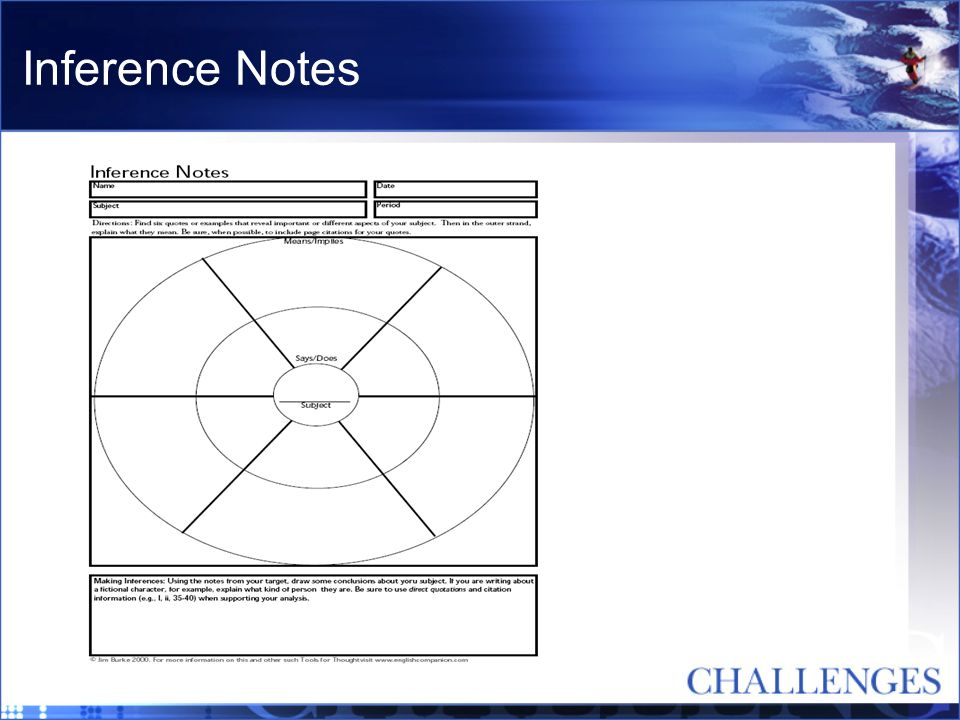 Inference Notes