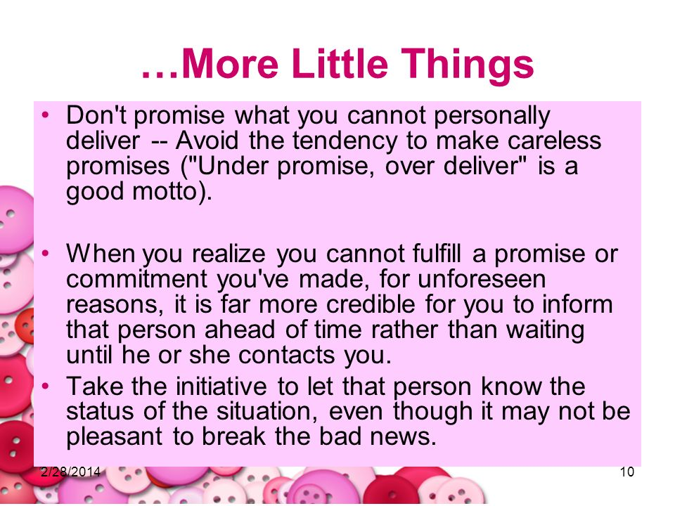 …More Little Things