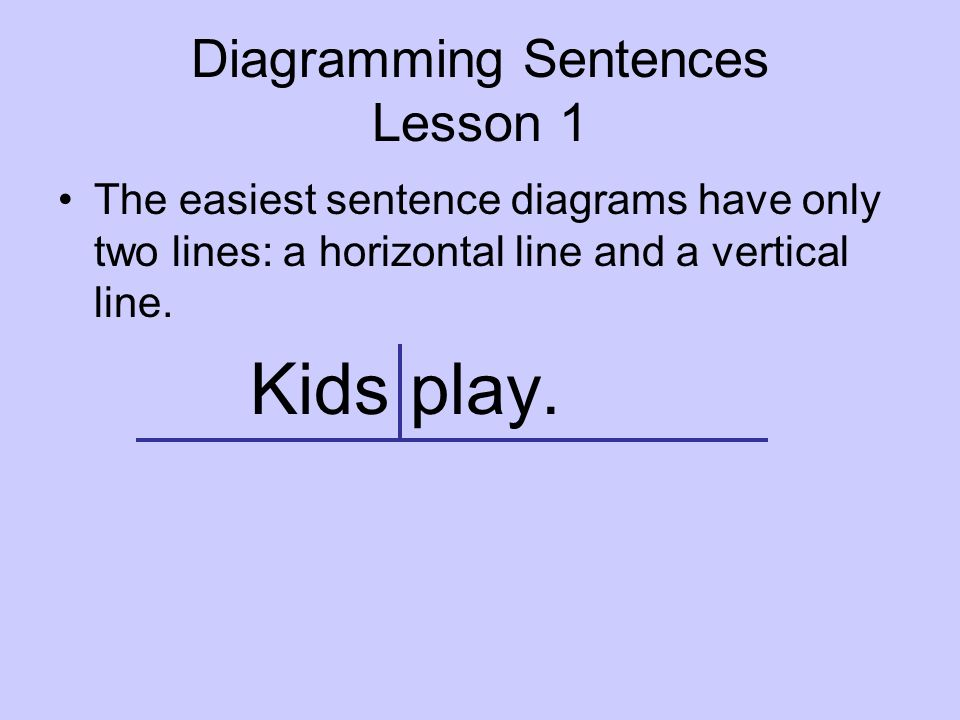 Diagramming sentences ppt video online download diagramming sentences lesson 1 ccuart Images