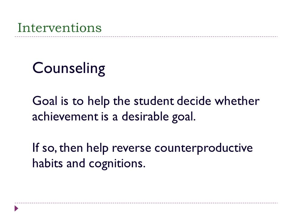 Counseling Interventions