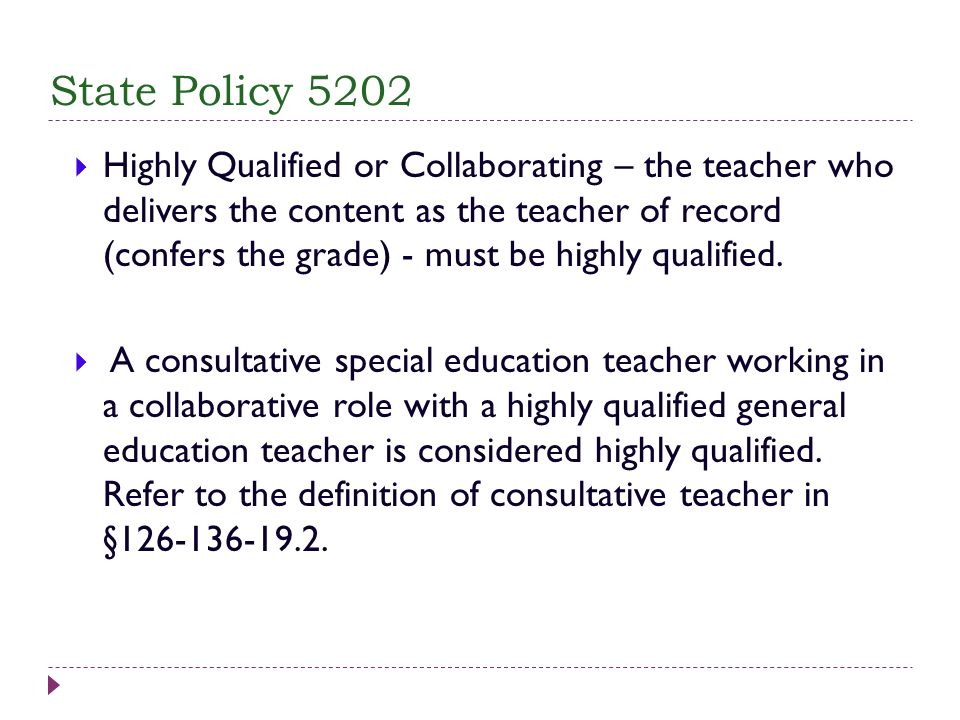 State Policy 5202