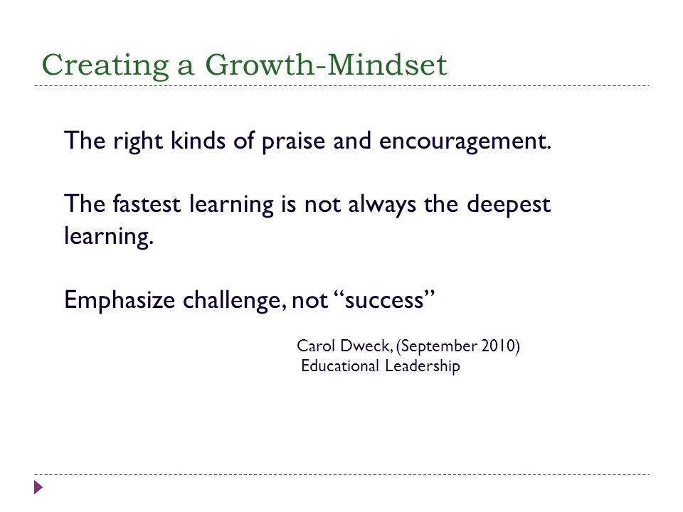 Creating a Growth-Mindset