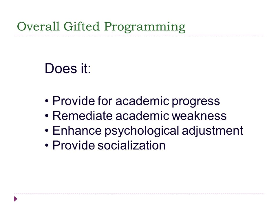 Overall Gifted Programming