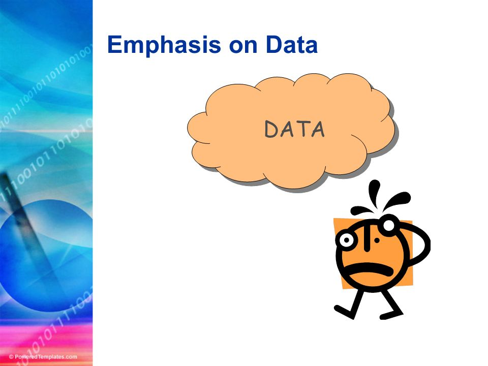 Emphasis on Data DATA