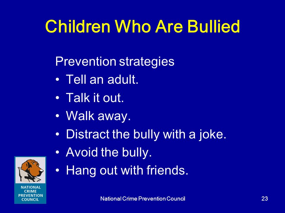 Children Who Are Bullied