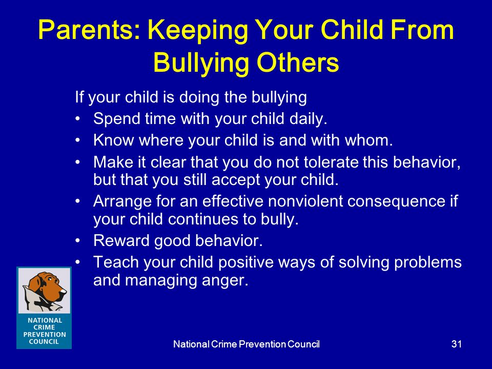 Parents: Keeping Your Child From Bullying Others