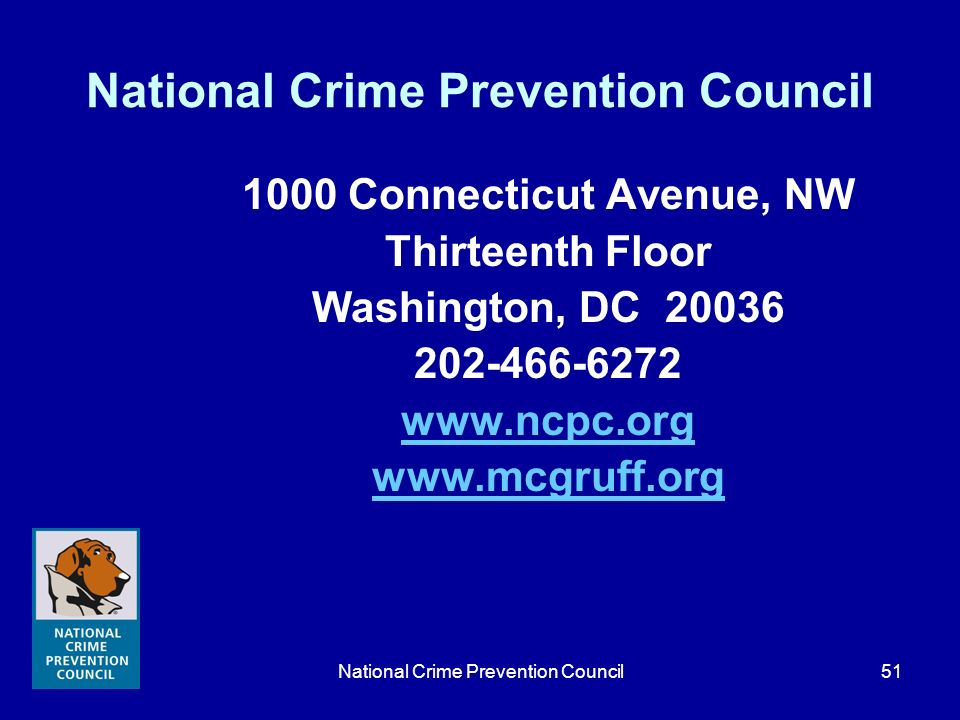 National Crime Prevention Council