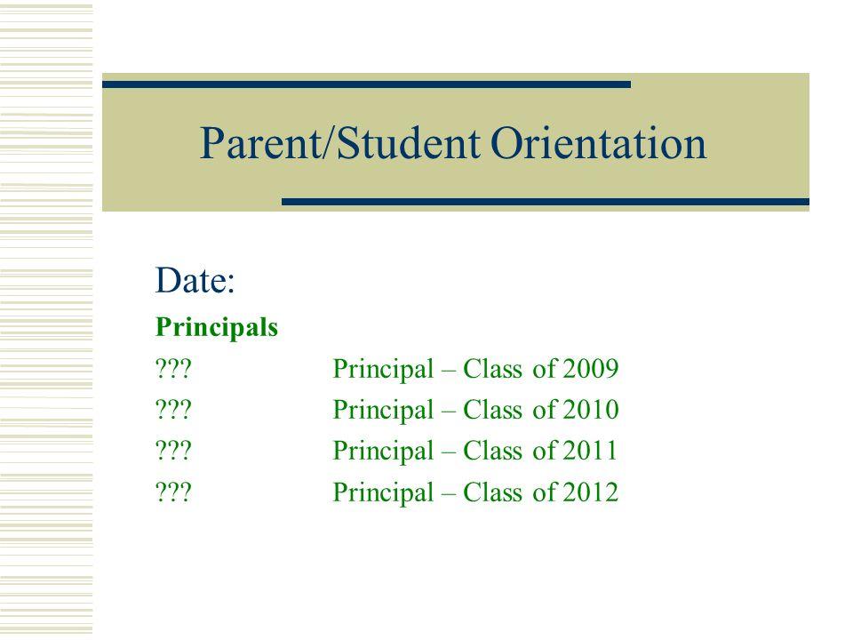 Parent/Student Orientation