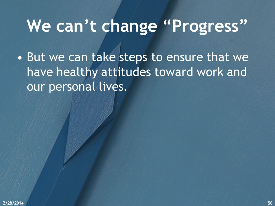 We can't change Progress