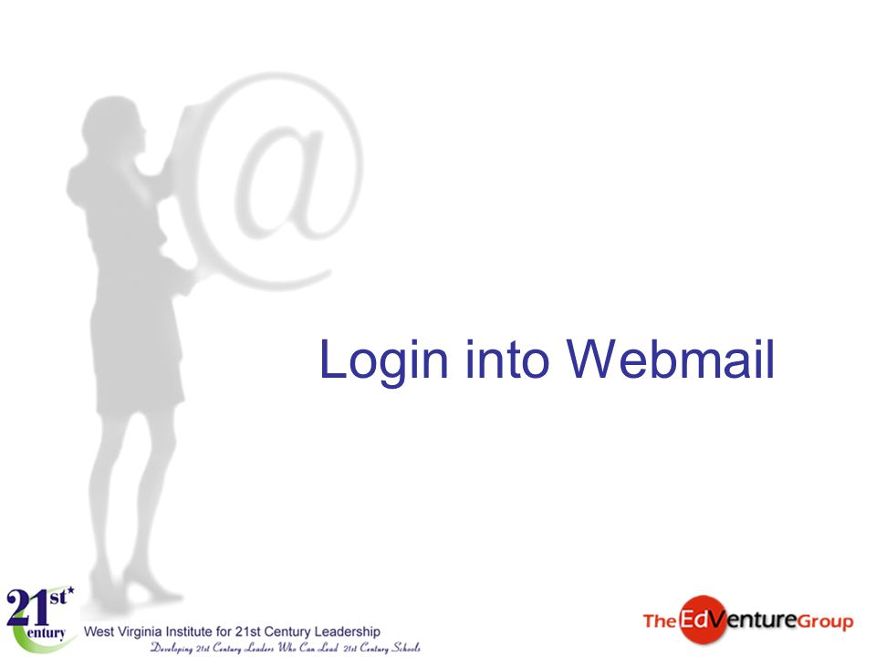 Login into Webmail