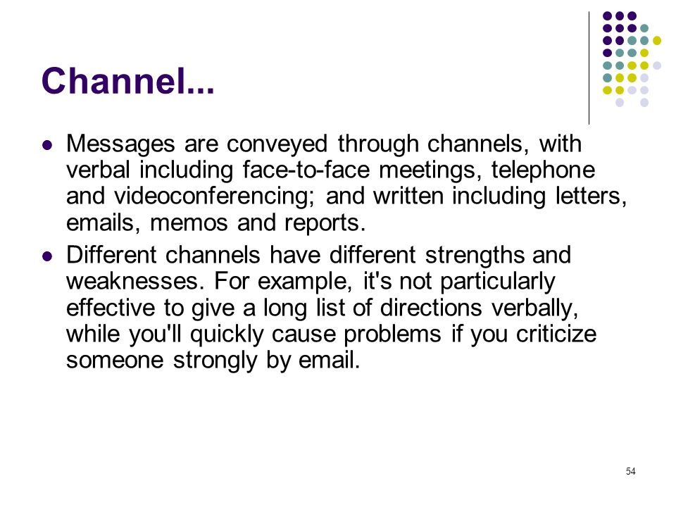 Channel...