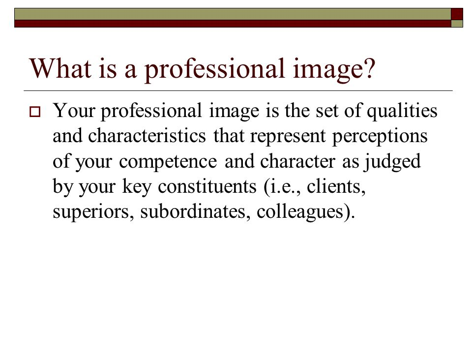 What is a professional image