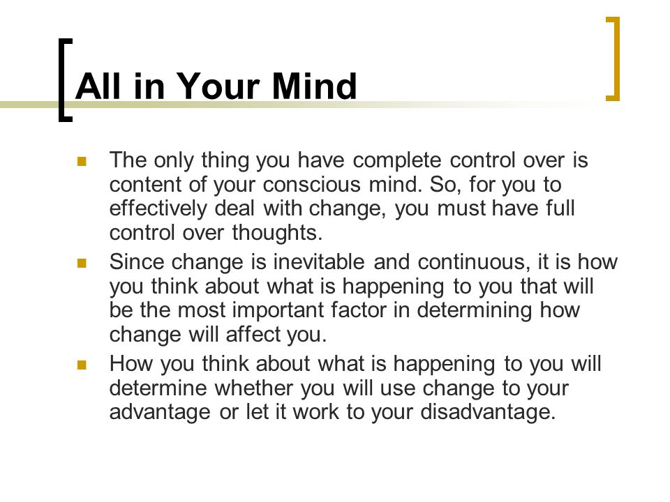 All in Your Mind