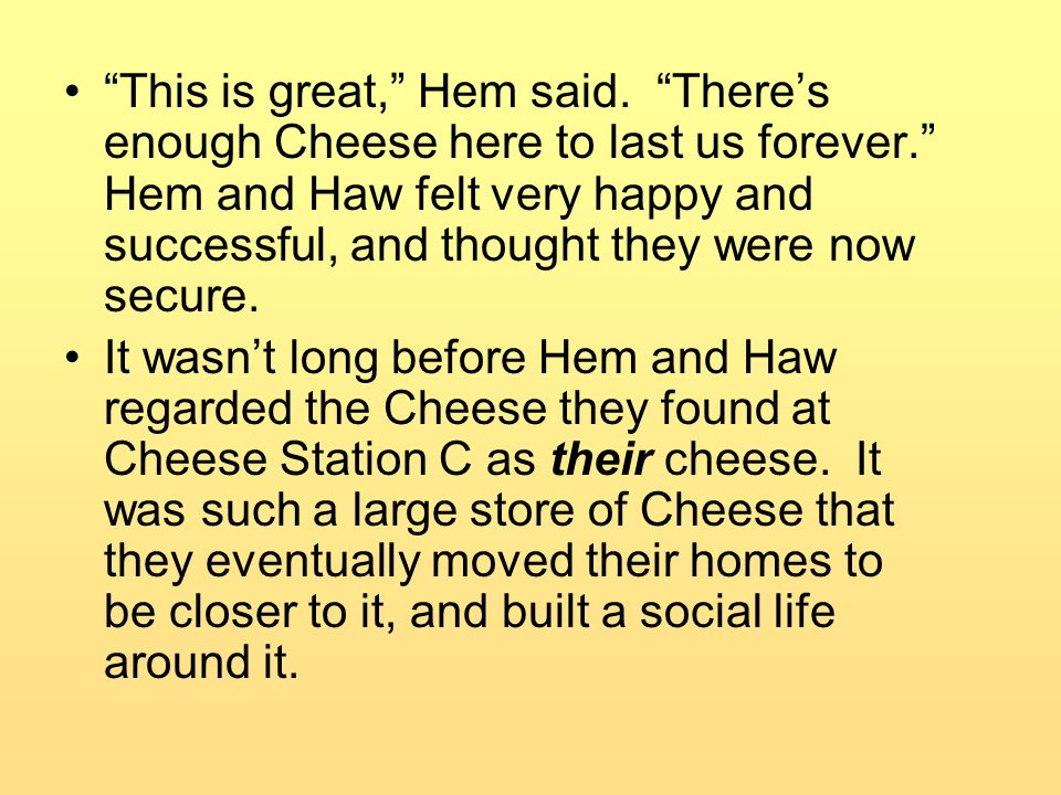 This is great, Hem said