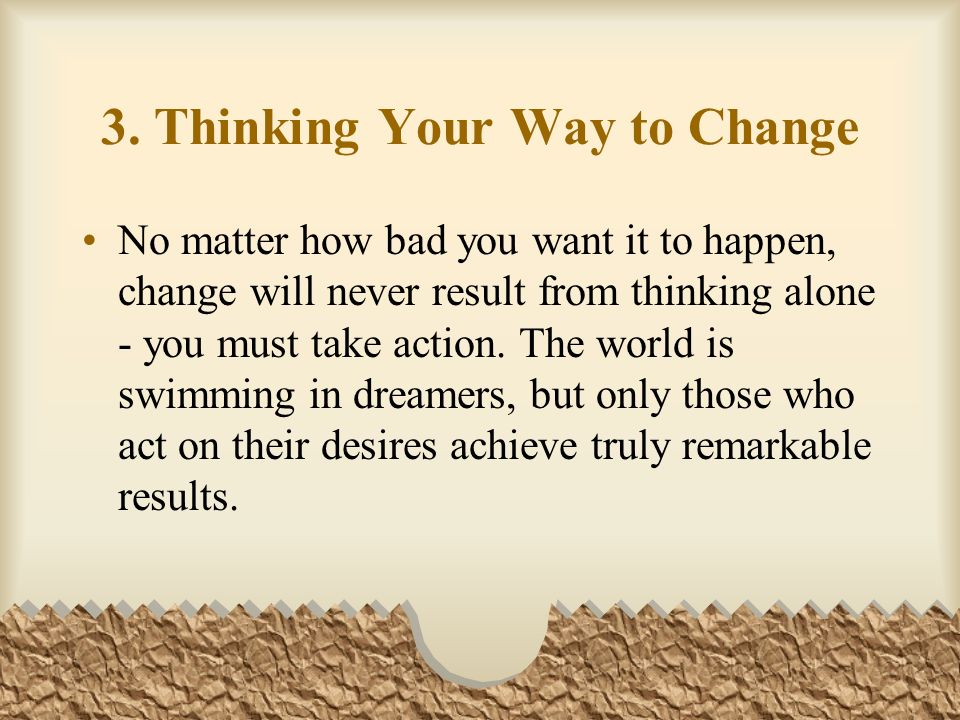 3. Thinking Your Way to Change
