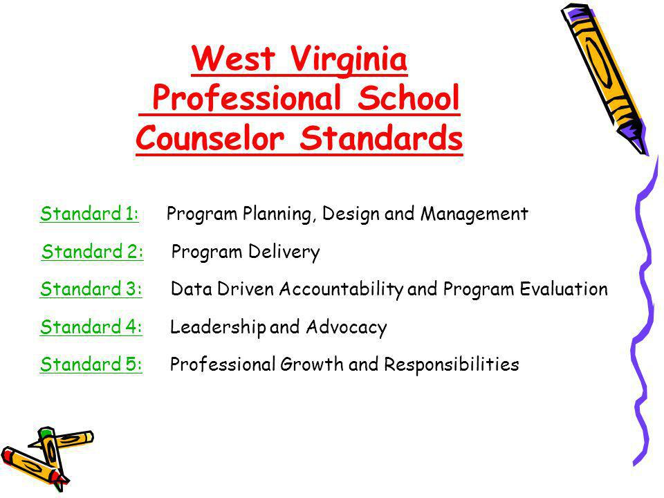 West Virginia Professional School Counselor Standards
