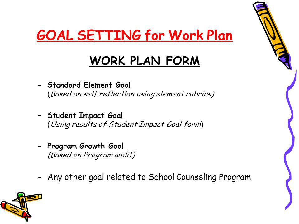 GOAL SETTING for Work Plan