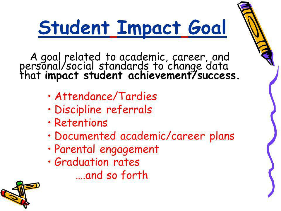 Student Impact Goal A goal related to academic, career, and