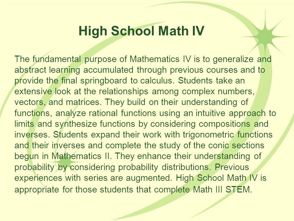 High School Math IV