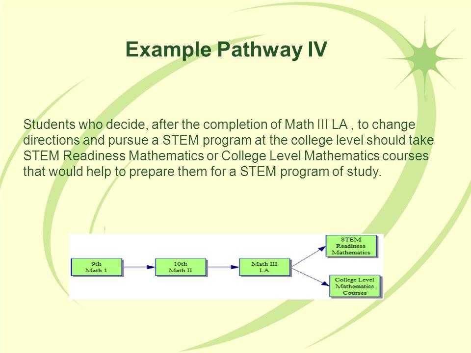 Example Pathway IV