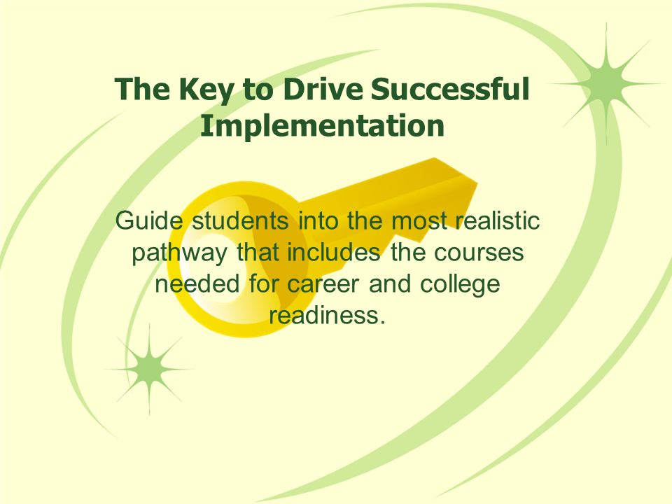 The Key to Drive Successful Implementation