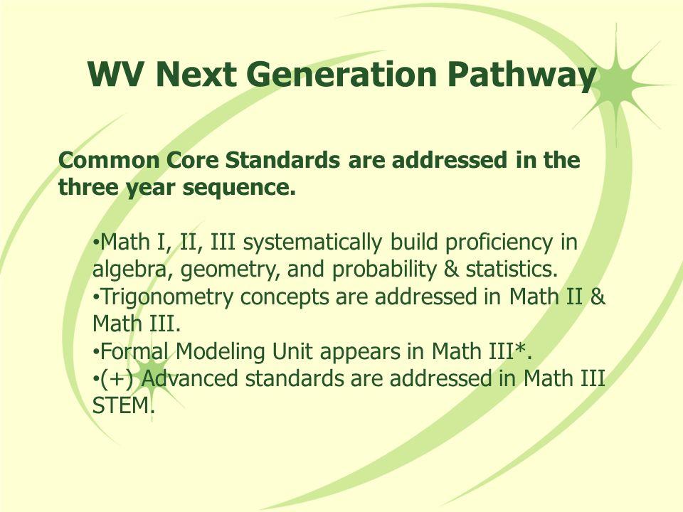 WV Next Generation Pathway
