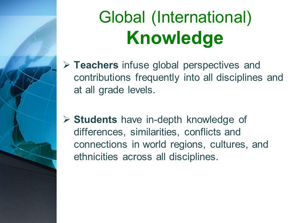 Global (International) Knowledge