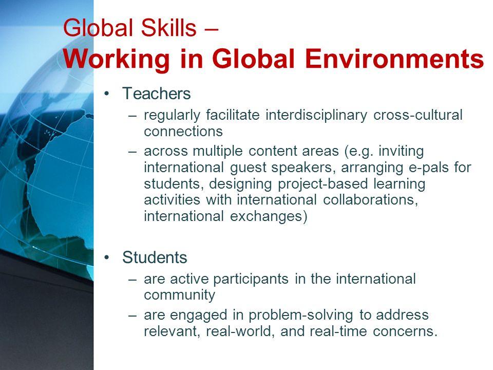 Global Skills – Working in Global Environments