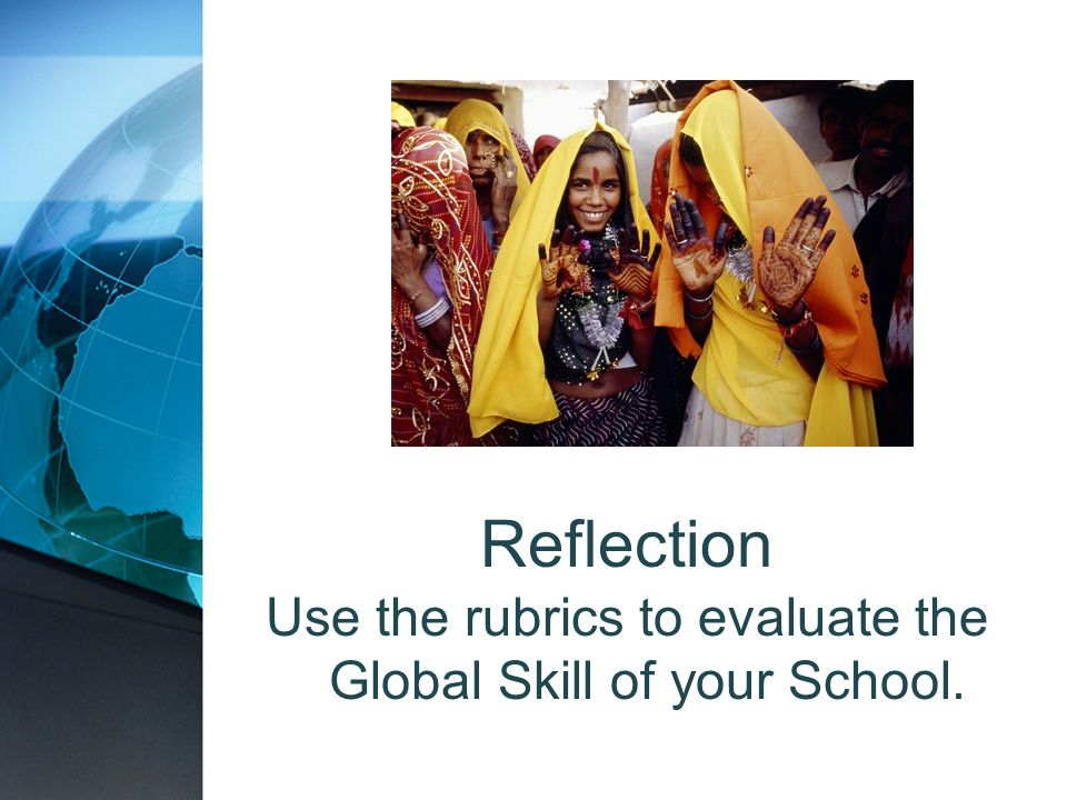Use the rubrics to evaluate the Global Skill of your School.