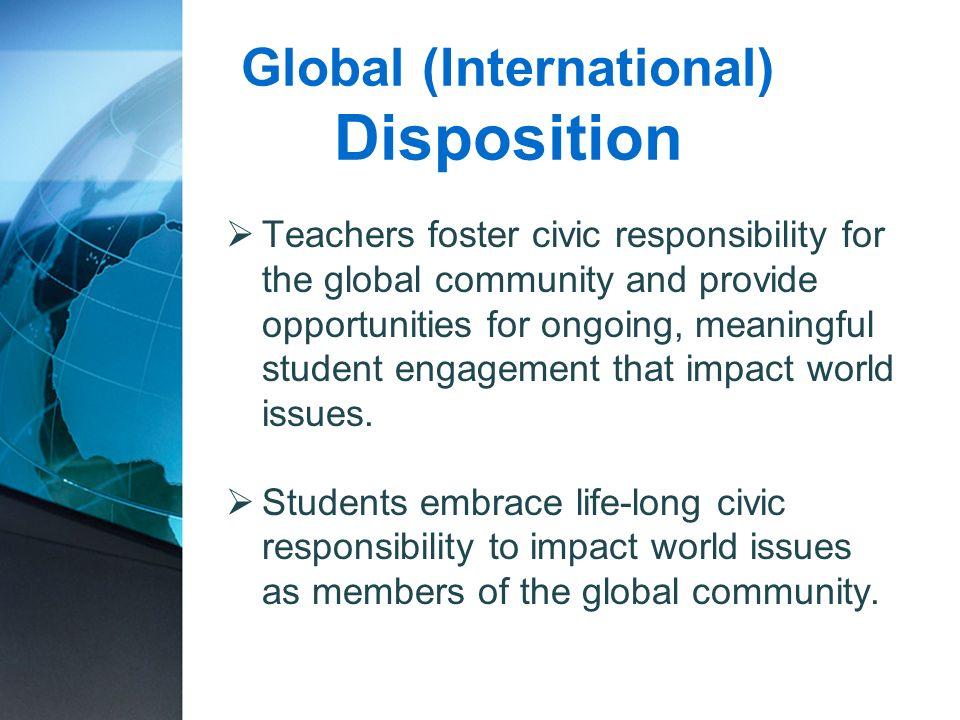 Global (International) Disposition