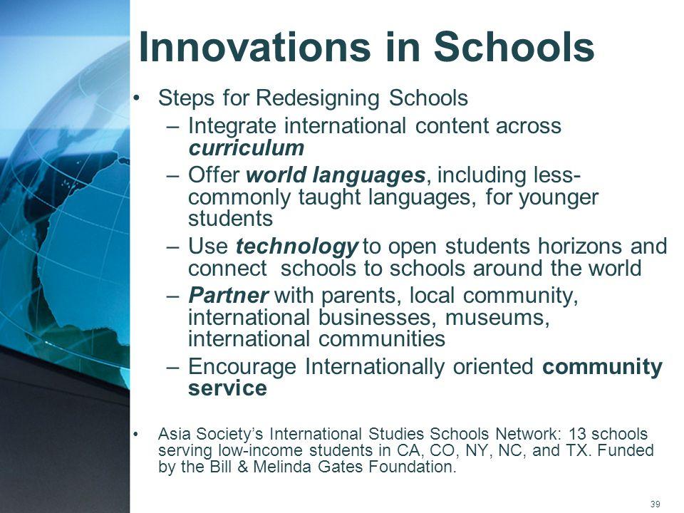 Innovations in Schools
