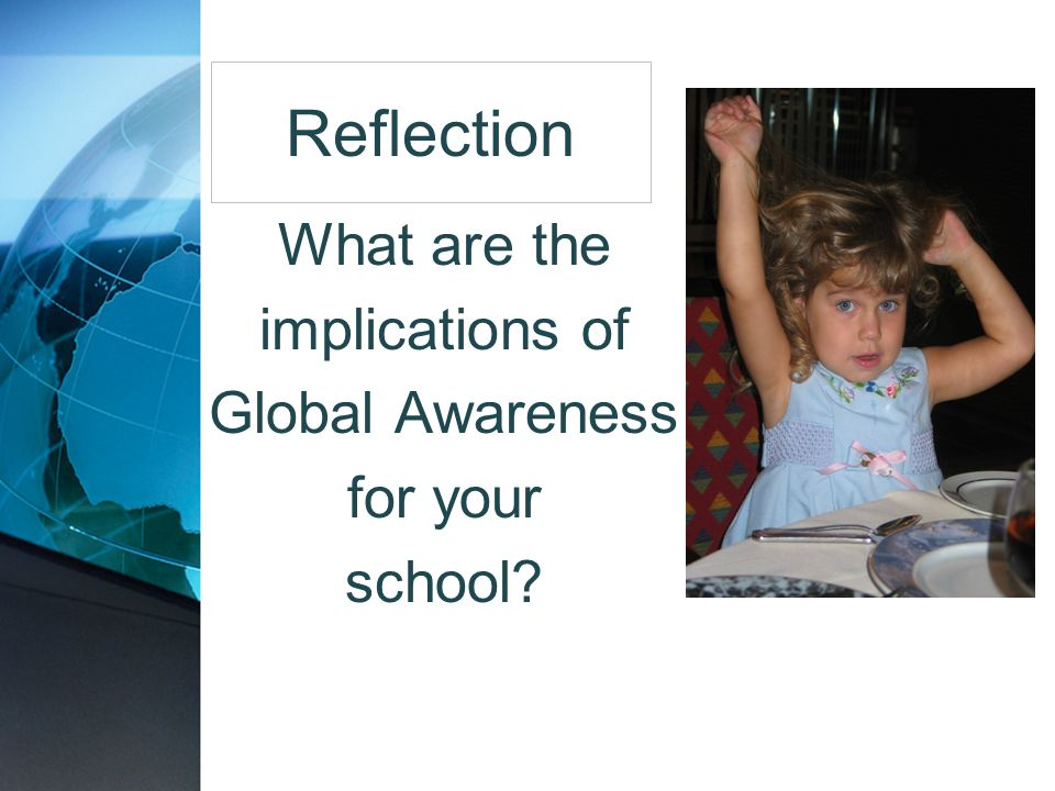 What are the implications of Global Awareness for your school
