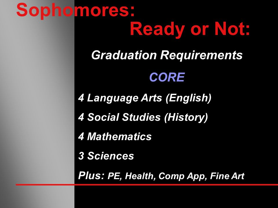Sophomores: Ready or Not: