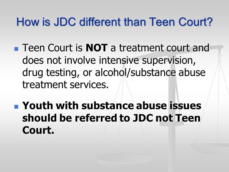 How is JDC different than Teen Court