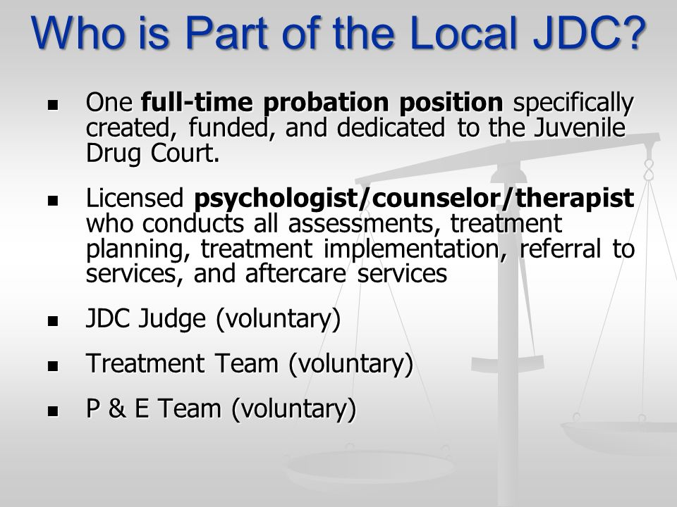 Who is Part of the Local JDC