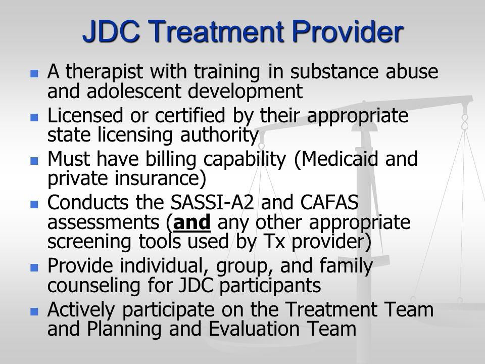 JDC Treatment Provider