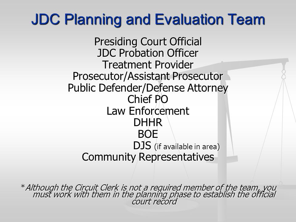 JDC Planning and Evaluation Team