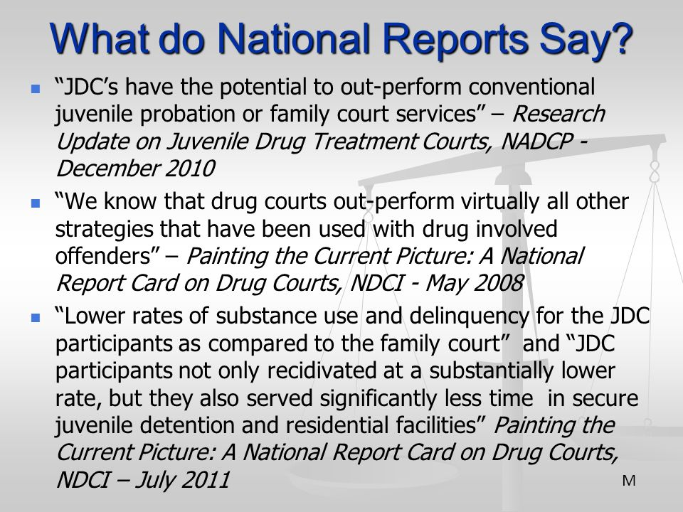 What do National Reports Say