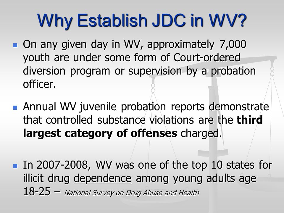 Why Establish JDC in WV