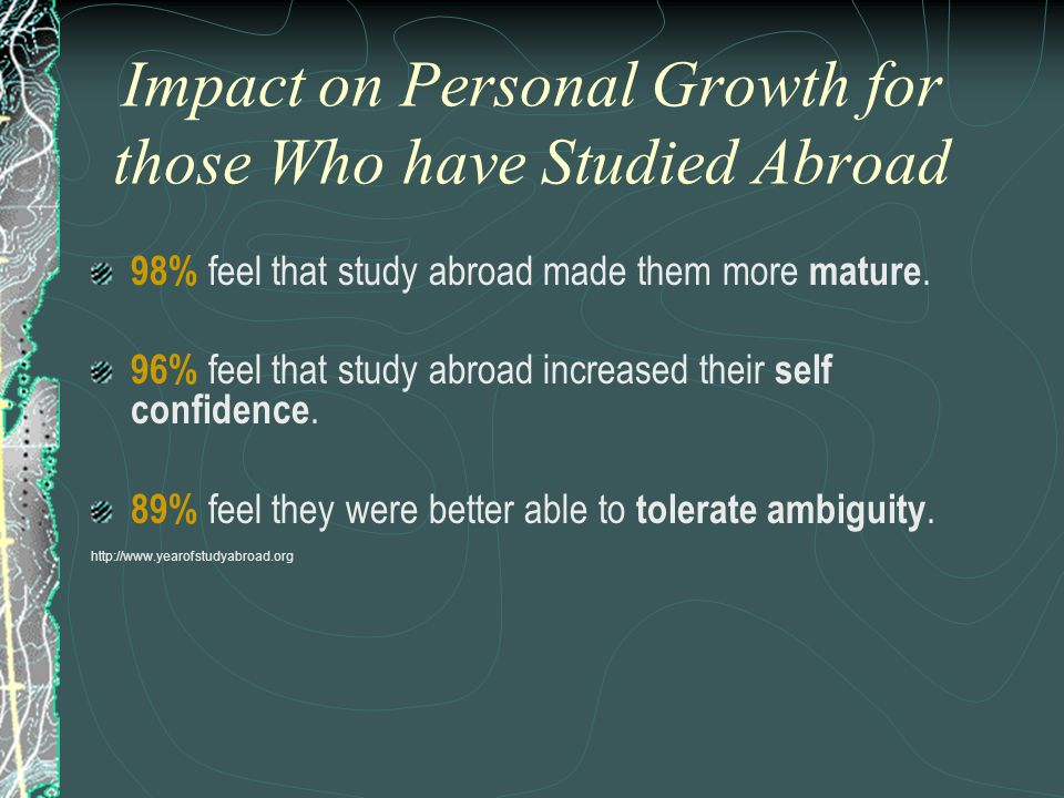 Impact on Personal Growth for those Who have Studied Abroad