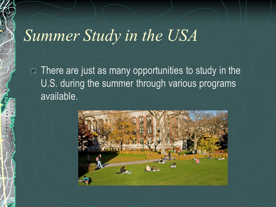 See full-size image. Summer Study in the USA.